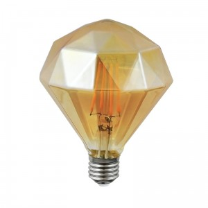 Żarówka LED filament Amber Diamond A Polux