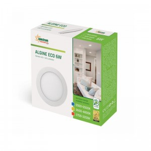 ALGINE ECO ROUND 6W IP20 Barwa neutralna Spectrum